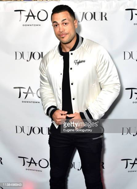 Giancarlo Stanton attends Jason Binn And DuJour Media Celebrate April Cover Star Giancarlo Stanton At TAO Downtown on March 26 2019 in New York City