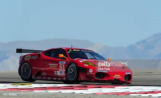 Giancarolo Fisichella of Italy drives the Risi Competizione Ferrari 430 GT during practice for the American Le Mans Series Larry H Miller Dealerships...