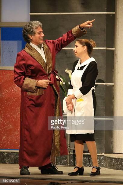 """Gianfranco Jannuzzo during presentation in Napoli. Gianfranco Jannuzzo and Debora Caprioglio staged in Naples with """"Lei e` ricca, la sposo e..."""