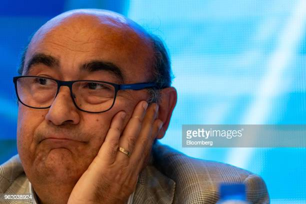 Gianfranco Lanci corporate president and chief operating officer of Lenovo Group Ltd looks on during a news conference in Hong Kong China on Thursday...