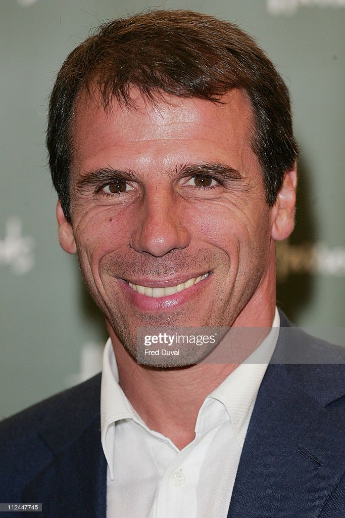 Gianfranco Zola at Harrods - Photocall