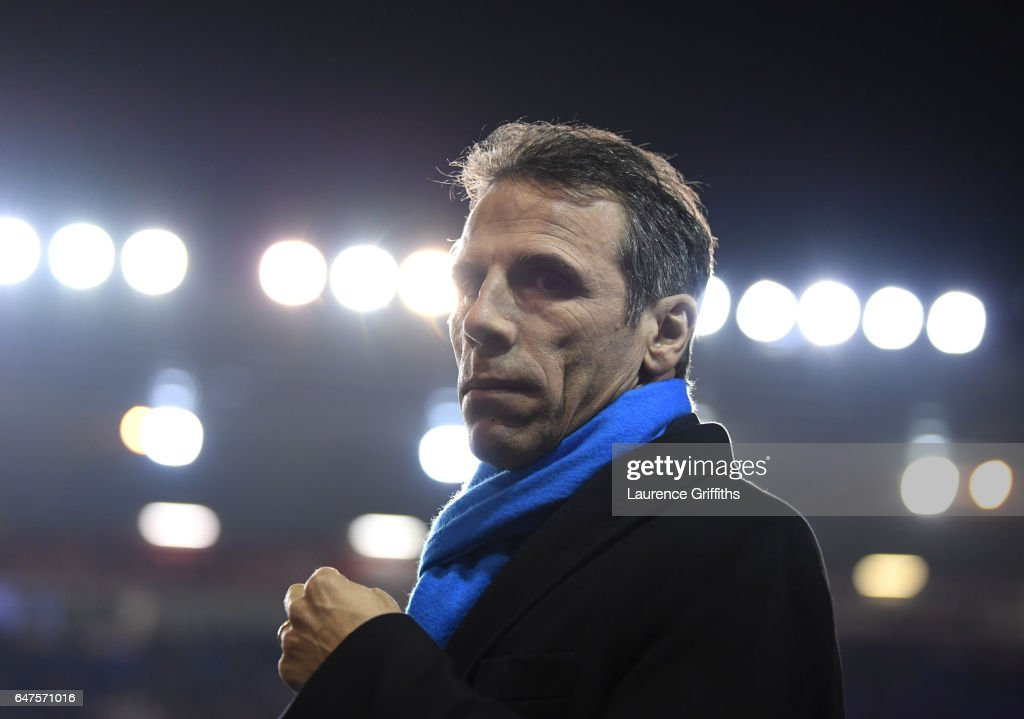 Gianfranco Zola of Birmingham City looks on during the Sky Bet Championship match between Birmingham City and Leeds United at St Andrews (stadium) on March 3, 2017 in Birmingham, England.