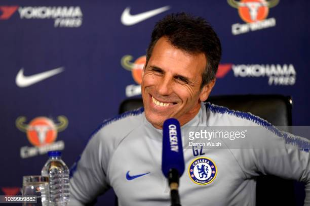 Emerson of Chelsea during a training session at Chelsea Training Ground on September 25 2018 in Cobham England
