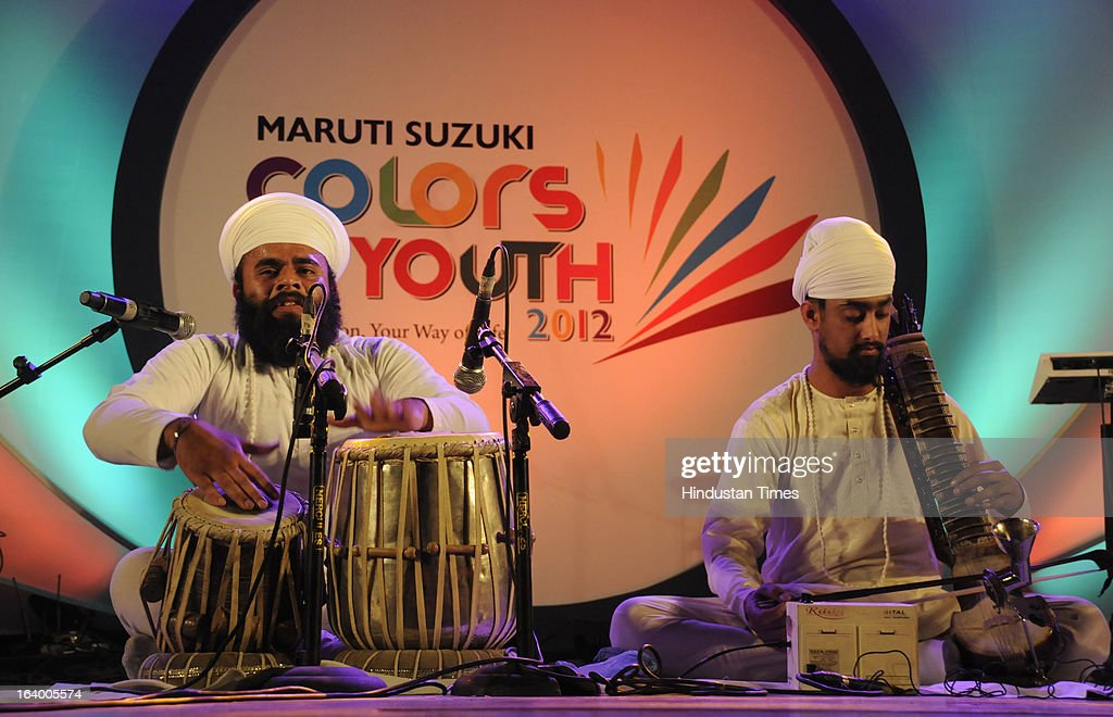 Giani Singh and Isher Singh performed the classical Instrumental during the grand finale of 'Maruti Suzuki Colors of Youth' in Sector-44 Epicenter on March 18, 2013 in Gurgaon, India.