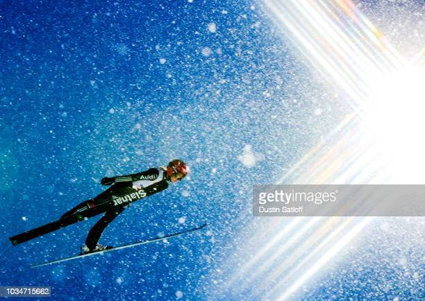 Gianina Ernst of Germany competes in the Women's Ski Jumping HS100 during the FIS Nordic World Ski Championships on February 24 2017 in Lahti Finland