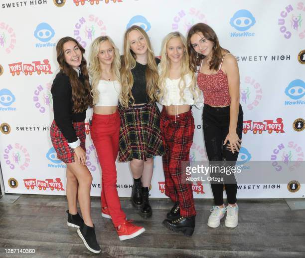 GiaNina Paolantonio, Katie Couch, Mackenzie, Kameron Couch and Kayla Davis at the 2nd Annual Toys For Tots Toy Drive held at The Industry Loft Space...