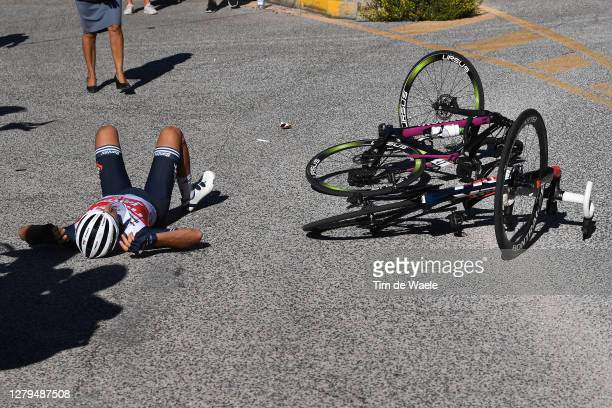Gianluca Brambilla of Italy and Team Trek - Segafredo / Crash / Injury / during the 103rd Giro d'Italia 2020, Stage Eight a 200km stage from...