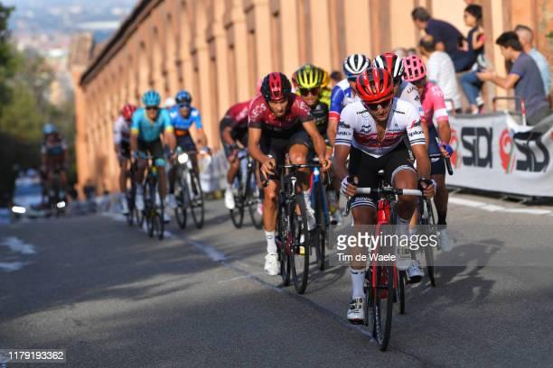 Gianluca Brambilla of Italy and Team Trek - Segafredo / Diego Rosa of Italy and Team INEOS / Peloton / San Luca / during the 102nd Giro dell'Emilia...