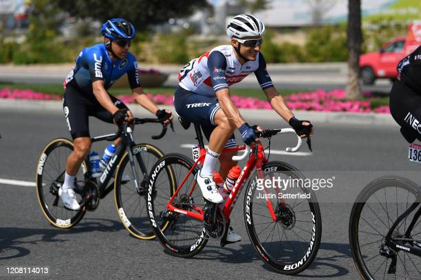 Gianluca Brambilla of Italy and Team Trek Segafredo / Domenico Pozzovivo of Italy and NTT Pro Cycling Team / during the 6th UAE Tour 2020 Stage 1 a...