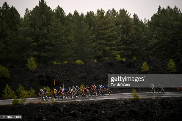 Gianluca Brambilla of Italy and Team Trek - Segafredo / Rafal Majka of Poland and Team Bora - Hansgrohe / Vincenzo Nibali of Italy and Team Trek -...