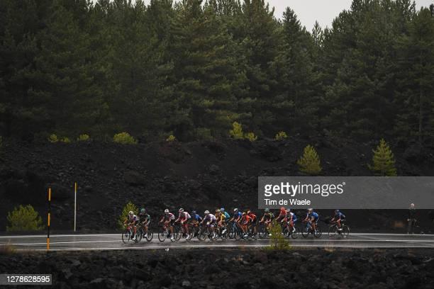 Gianluca Brambilla of Italy and Team Trek Segafredo / Rafal Majka of Poland and Team Bora Hansgrohe / Vincenzo Nibali of Italy and Team Trek...