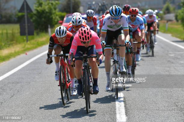 Gianluca Brambilla of Italy and Team Trek - Segafredo / Sean Bennett of The United States and Team EF Education First / Conor Dunne of Ireland and...