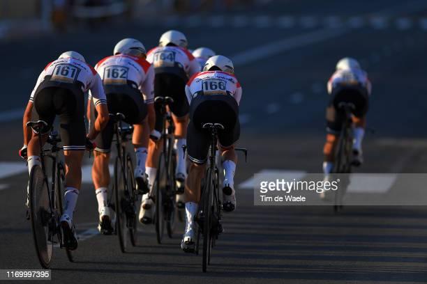 Gianluca Brambilla of Italy and Team Trek-Segafredo / Kiel Reijnen of The United States and Team Trek-Segafredo / during the 74th Tour of Spain 2019,...