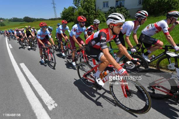 Gianluca Brambilla of Italy; and Team Trek-Segafredo / Peloton / during the 83rd Tour of Switzerland, Stage 3 a 162,3km stage from Flamatt to Murten...