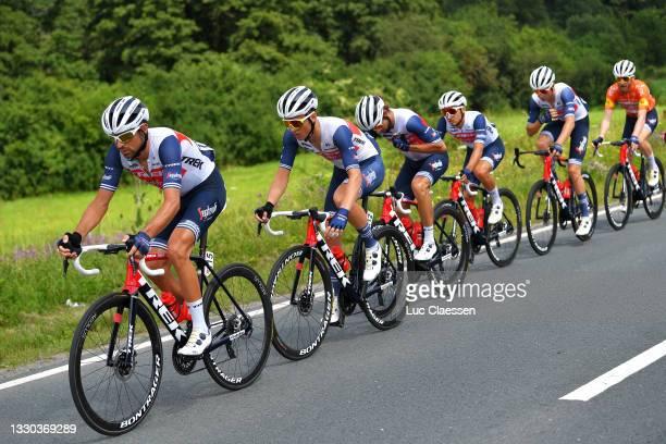 Gianluca Brambilla of Italy, Jacob Egholm of Denmark, Alex Kirsch of Luxembourg, Antonio Nibali of Italy, Kiel Reijnen of United States & Quinn...