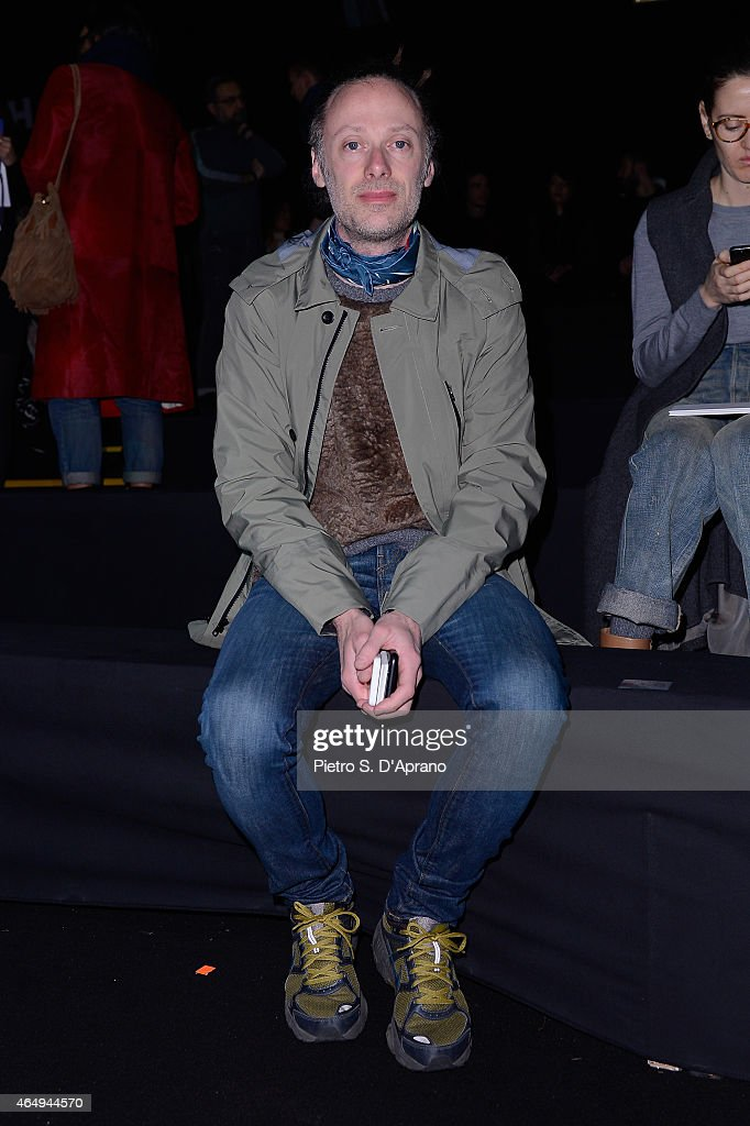 Gianluca Cantaro attends the Dsquared2 show during the Milan Fashion Week Autumn/Winter 2015 on March 2, 2015 in Milan, Italy.