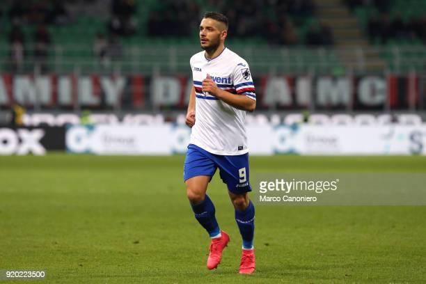 Gianluca Caprari of UC Sampdoria during the Serie A football match between Ac Milan and Uc Sampdoria Ac Milan wins 10 over Uc Sampdoria