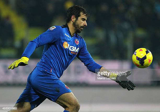 Gianluca Curci of Bologna FC in action during the Serie A match between Parma FC and Bologna FC at Stadio Ennio Tardini on November 30 2013 in Parma...
