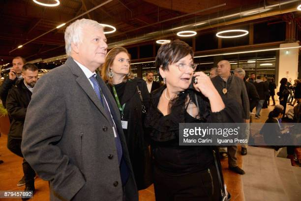 Gianluca Galletti italian minister for agricolture and ambient and Tiziana Primori CEO of Eataly attends the FICO Eataly World Agri Food park Opening...