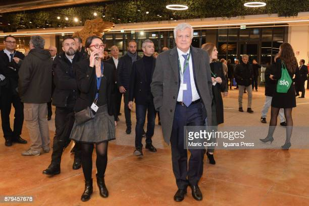 Gianluca Galletti italian minister for agricolture and ambient attends the FICO Eataly World Agri Food park Opening Day on November 15 2017 in...