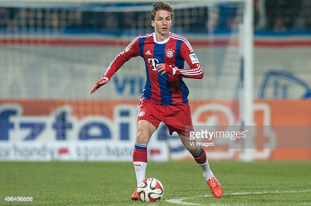 Gianluca Gaudino of Bayern Munich during the DFB Pokal match between VfL Bochum and FC Bayern Munich on January 24 2015 at the Rewirpowerstadion in...