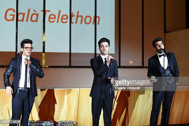 Gianluca Ginoble Ignazio Boschetto and Piero Barone attends Gala Telethon during the 9th Rome Film Festival at Auditorium Parco Della Musica on...