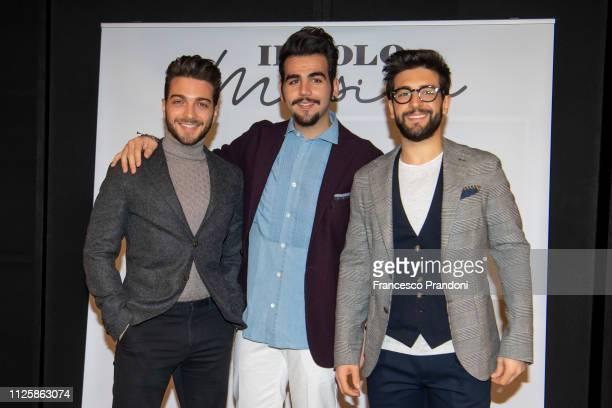 Gianluca Ginoble Ignazio Boschetto and Piero Barone of Il Volo attends Musica presentation on January 29 2019 in Milan Italy