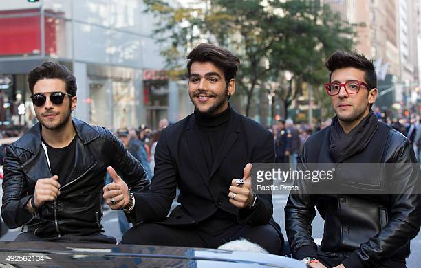 Gianluca Ginoble Ignazio Boschetto and Piero Barone of Il Volo participate on the 2015 Columbus Day Parade on Fifth Avenue in New York City