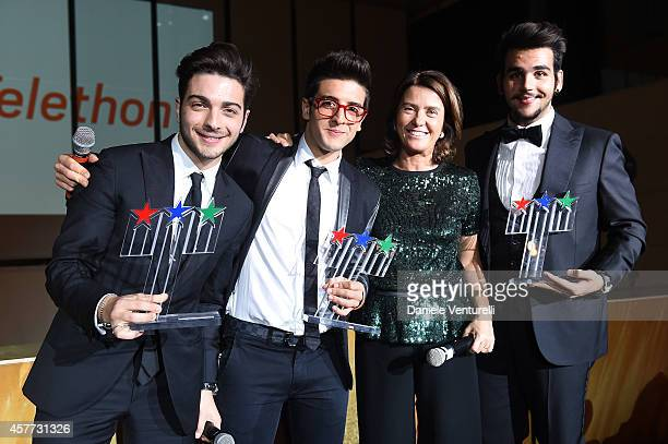 Gianluca Ginoble Ignazio Boschetto Francesca Pasinelli and Piero Barone attend Gala Telethon during the 9th Rome Film Festival at Auditorium Parco...