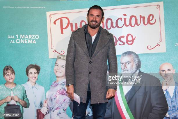 Gianluca Impastato attends a photocall for 'Puoi Baciare Lo Sposo' on February 28 2018 in Milan Italy