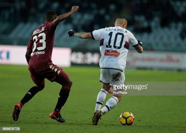 Gianluca Lapadula during Serie A match between Torino v Genoa in Turin on December 30 2017