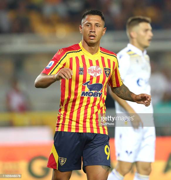 Gianluca Lapadula Of US Lecce during the Serie A match between US Lecce and Hellas Verona at Stadio Via del Mare on September 1 2019 in Lecce Italy
