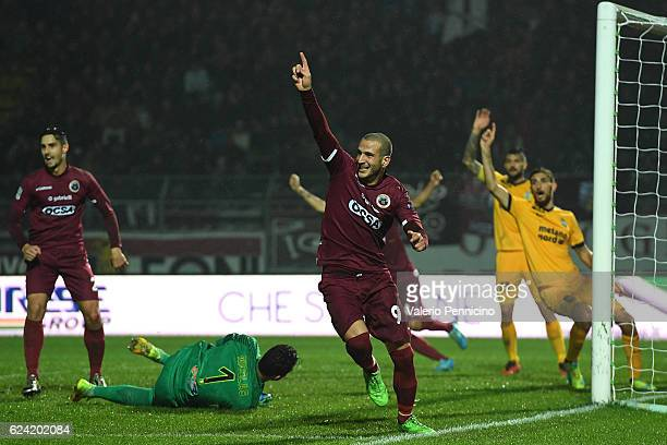 Gianluca Litteri of AS Cittadella celebrates a goal during the Serie B match between AS Cittadella and Hells Veronaat at Stadio Pier Cesare Tombolato...