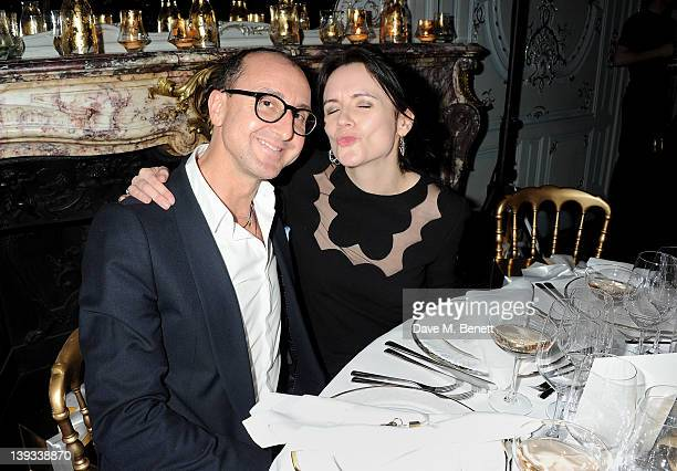 Gianluca Longo and Eilidh MacAskill attend a dinner following the Mulberry Autumn/Winter 2012 show during London Fashion Week at The Savile Club on...