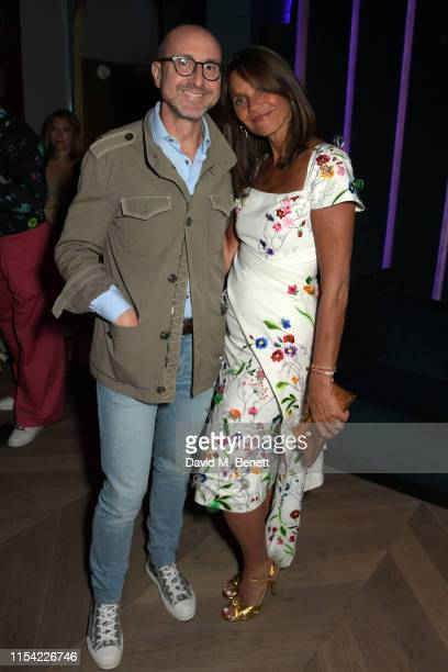 Gianluca Longo and Lady Debonnaire Von Bismarck attend Dundas Travelling Flagship on June 06 2019 in London England