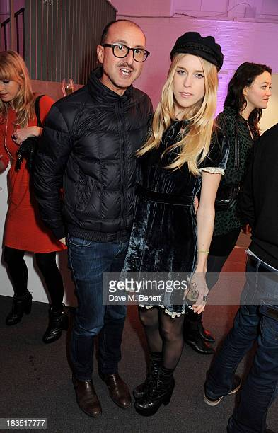 Gianluca Longo and Mary Charteris attend a party celebrating 30 years of Diet Coke and announcing designer Marc Jacobs as Creative Director for Diet...