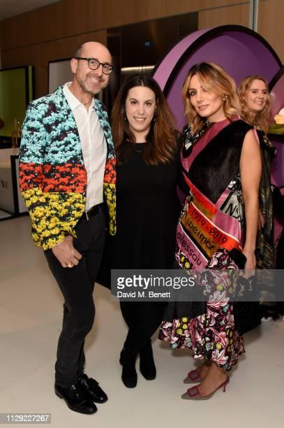 Gianluca Longo Mary Katrantzou and Narmina Marandi attend Ten Years in Fashion Mary Katrantzou 10th Anniversary Dinner hosted by Brigitta Spinocchia...