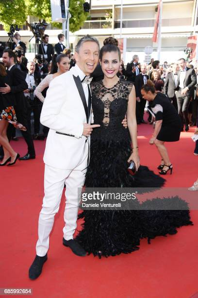 Gianluca Mech and Aida Flix attend the '120 Beats Per Minute ' screening during the 70th annual Cannes Film Festival at Palais des Festivals on May...