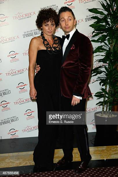 Gianluca Mech and Lidia Vitale attend the TBS Dinner during the 9th Rome Film Festival on October 20 2014 in Rome Italy