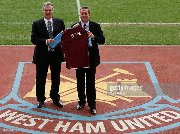 Gianluca Nani and Manager Alan Curbishley after Nani is announced as the new West Ham United Technical Director during a photocall at Upton Park on...