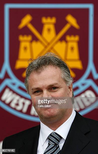 Gianluca Nani is announced as the new West Ham United Technical Director during a photocall at Upton Park on March 17 2008 in London England Before...