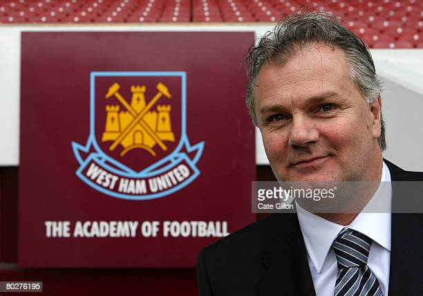 LONDON March 17 Gianluca Nani is announced as the new West Ham United Technical Director during a photocall at Upton Park on March 17 2008 in London...