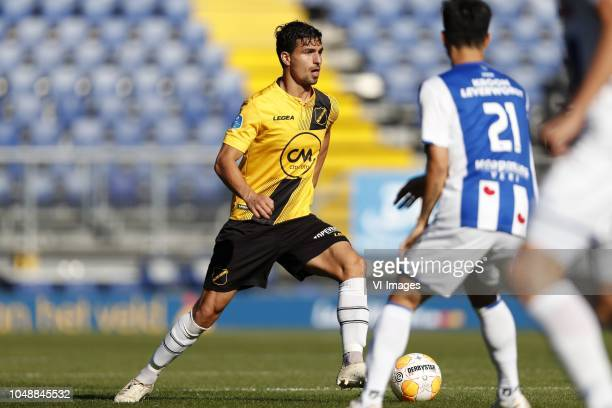 Gianluca Nijholt of NAC Breda Yuki Kobayashi of sc Heerenveen during the Friendly match between NAC Breda and sc Heerenveen at the Rat Verlegh...