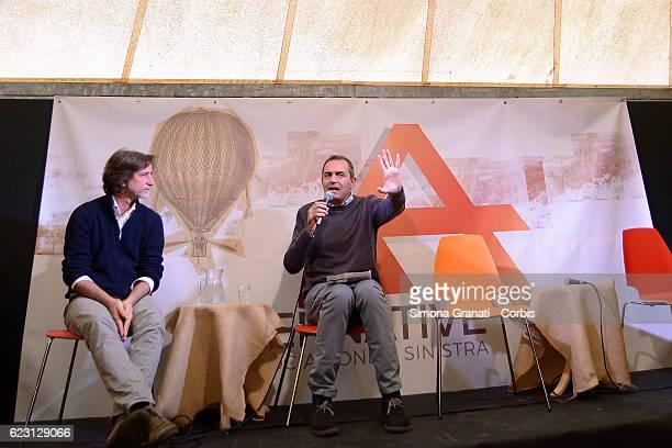 Gianluca Peciola interviews the Mayor of Naples Luigi De Magistris in an event organized by the association Alternatives on November 12 2016 in Rome...