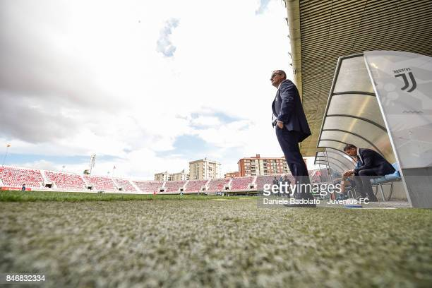 Gianluca Pessotto during the UEFA Youth League match between FC Barcelona and Juventus at on September 12 2017 in Barcelona Spain