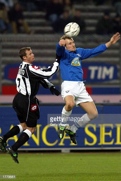 Gianluca Pessotto of Juventus and Tommaso Rocchi of Empoli in action during the Serie A match between Juventus and Empoli played at the Stadio Delle...