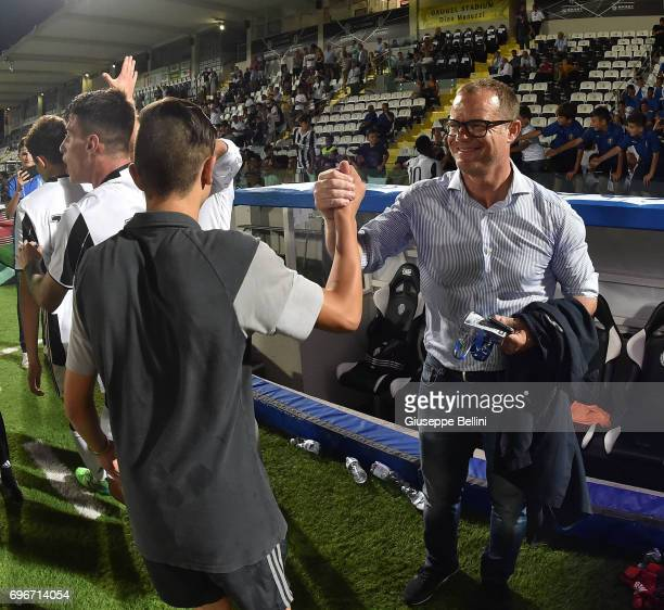 Gianluca Pessotto of Juventus FC celebrates the victory after the U15 Serie A Final match between FC Internazionale and Juventus FC on June 16 2017...