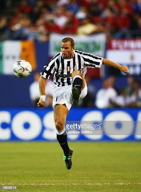 Gianluca Pessotto of Juventus in action during the Champions World Series game between Manchester United and Juventus on July 31 at the Giants...