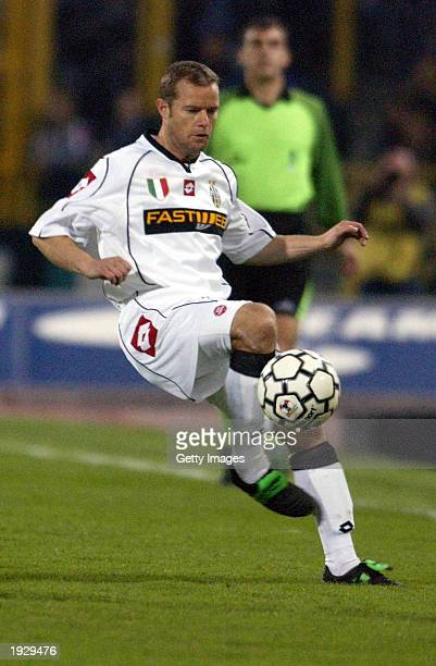 Gianluca Pessotto of Juventus in action during the Serie A match between Bologna and Juventus played at the Renato Dall'Arra Stadium Bologna Italy on...