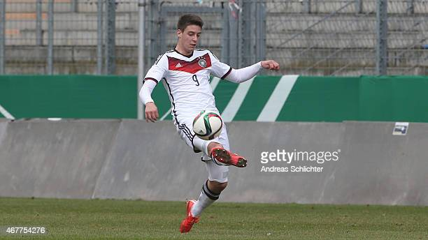 Gianluca Rizzo of Germany during the UEFA Under19 Elite Round match between U19 Germany and U19 Slovakia at Carl-Benz-Stadium on March 26, 2015 in...